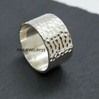 925 Sterling Silver Wide Band Ring Handmade Ring Statement Ring Jewelry NS31