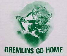 M * thin vtg 70s 1974 GREMLINS GO HOME gordon disckson ben bova t shirt * 41.131