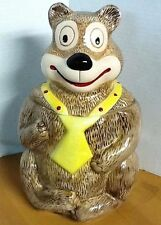 Cookie Jar Classics Brown Bear with Yellow and Red Dot Tie by Jonal