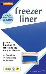 Freezer Fridge Drawer Shelf Liners Mats Prevent Build Up Ice and Frost