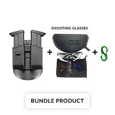 BUNDLE Fobus 6945 Paddle Double Mag Pouch For Walther .45 cal Double Stack