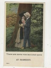 There Are Some Nice Secluded Spots At Brenzett 1909 Postcard 641b