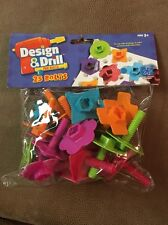 Educational Insights Design & Drill Fun Bolts 25 bolts 5 shapes 5 colors NIP