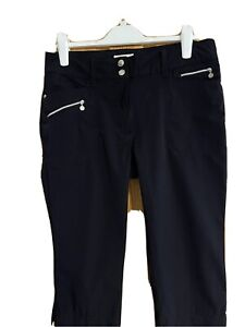 Ladies 'Daily Sports' Capri Length Golf Trousers Black 14