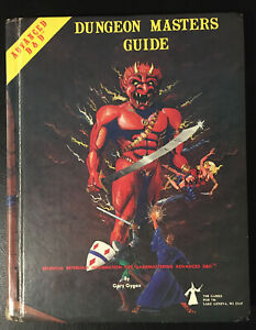 Dungeon Masters Guide AD&D - Gary Gygax - TSR 1979 Original Cover VG