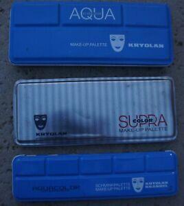 LOT KRYOLAN Aqua Color MakeUp Face Paint Palette Stage 5044 1147 1108 1108K I