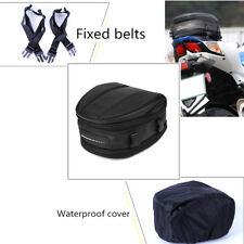 Motorcycle Rear seat bag Tail Back Saddle Helmet Pack Waterproof oxford cloth