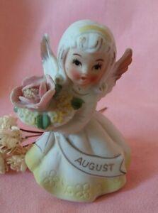 Vintage August Birthday Angel Figurine - Lefton?