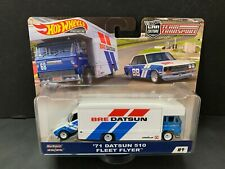 Hot Wheels Datsun 510 1971 with Fleet Flyer BRE Team Transport FLF56-956C 1/64