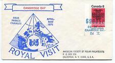 1975 Cambridge Bay Prince Charles Royal Visit Calverton Canada Polar Cover