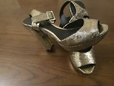Head Over Heels by Dune Gold High Heel  Shoes Size 7 / 40