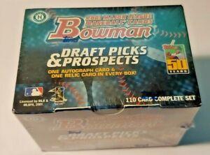 2001 Bowman Draft Picks and Prospects Update Sealed Set!  Ichiro's Rookie Card!!