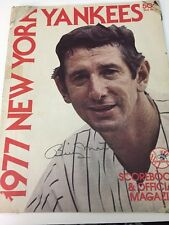 1977 BILLY MARTIN SIGNED YANKEES OFFICIAL FULL MAGAZINE AUTO  PSA/LOA RARE!