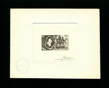 Wallis & Futuna 1960  Ships Explorers  Scott C14 Signed Sunken Die Artist Proof