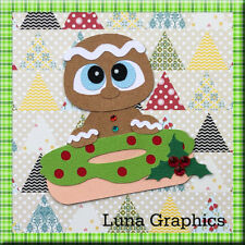 GINGERBREAD MAN DONUT Embellishment Paper Piecing card toppers scrapbooking