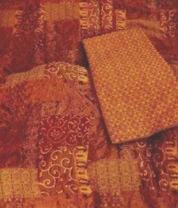 4 PC SET CROSCILL GALLERIA Queen Comforter 2 Euro Shams & Dust Ruffle Ex Cond