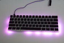 Semi transparent 61keys keyboard privite patent designed poker 60% mini keyboard