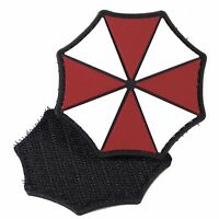 PVC Morale Patch Umbrella Corp Logo 3D Badge Hook #17 Paintball Airsoft