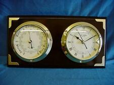 WILLIAM WIDDOP NAUTICAL STYLE 2 DIAL BAROMETER & CLOCK WEATHER FORECAST W9560