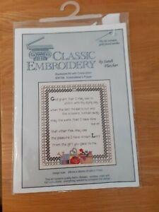 Classic Embroidery Bw109 Embroiders Prayer Sarah Fletcher 24cms X 28cms New...