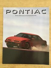 1991 Pontiac Full Line Up Brochure
