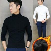 Men Autumn Warm Sweater Long Sleeve Pullover Tops Turtleneck Slim Jumper M-2XL