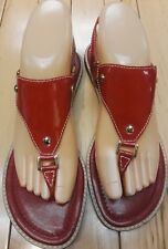 Franco Sarto Patenn leather  Red sandals size 8.5