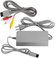 Lot of 4 OEM Nintendo Wii Power Supply AC Adapter RVL-002 w/ AVI Cable RVL-009