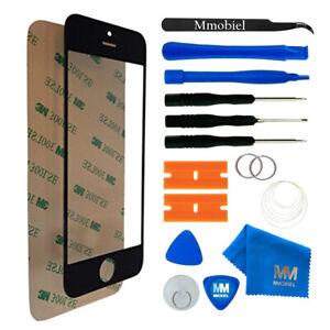 Front Glas für iPhone 5 / 5C/ 5S / SE (SCHWARZ) Display Reparatur Set + Werkzeug