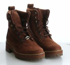11-21 MSRP $160 Women's Size 7.5 Timberland Courmayer Valley Red Leather Boots