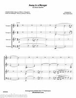 4 Christmas arrangements for BRASS QUARTET. Sheet music. FREE PRIORITY shipping!