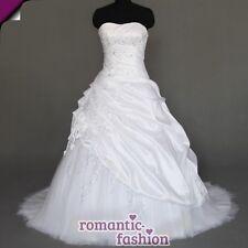 ♥ vestido de novia, vestido de bodas en blanco Tamaño 34-54 para la selección + nuevo + inmediatamente +w070 ♥