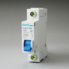 DZ47-60 C20 AC230/400V 1P 20A Rated Current 1 Pole Miniature Circuit Breaker KJ0
