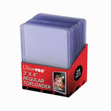 Ultra Pro 3 x 4 Inch Regular Toploaders Clear 25 Sealed Pack