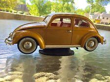 1/18 Burago VW Beetle gold loose no box diecast burago Volkswagen 1M