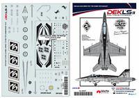 1/48  F/A-18 Hornet - RAAF 75 Squadron 75th Anniversary Decal DEKL's II