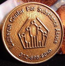 Alcoholics Anonymous Aa Lutheran Center Recovery Bronze Token Coin Sober Odat Ec