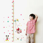Mickey Minnie Height Chart Wall Sticker PVC Decal Removable Nursery Decor Kids