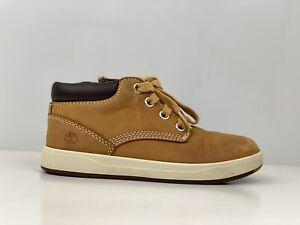 Timberland Davis Sqaure Toddler Boys Yellow Leather Chukka Boot UK Size 11