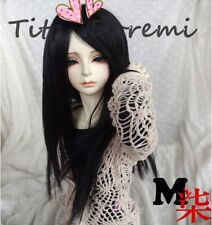 Bjd Doll Wig 1/3 8-9 Dal Pullip AOD DZ AE SD DOD LUTS Dollfie black Toy Hair