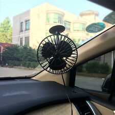 12V 4 Inch Powered Mini Air Fan Truck Car Vehicle Cooling Suction Cup Cooler Fan
