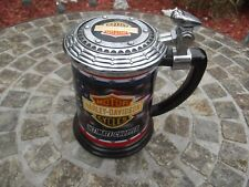 VTG. 2000, HARLEY DAVIDSON CHOPPER COLLECTOR TANKARD, FRANLIN MINT, EXCELLENT