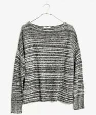 Madewell Threadmix Boatneck Sweater Black And White Size Large Nwt
