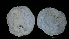 3 1/2 Inch Geode Gray Chalcedony Covering Quartz Crystals From Illinois #123