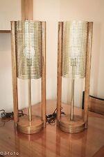 Retro Oakwood table lamps by Bella Lighting Co.