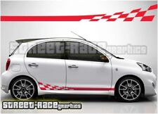 005 side racing stripes Fits Nissan Micra decals vinyl graphics stickers