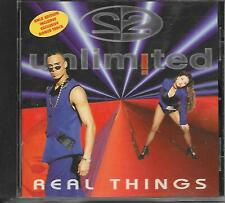 2 UNLIMITED - Real things CD Album 14TR Eurodance 1994 (BYTE RECORDS) Benelux