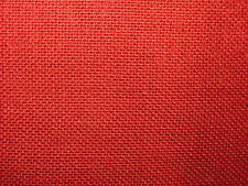 "1 NEW FAT QUARTER PIECE 18""x19"" OF RED 12oz HESSIAN JUTE FABRIC FOR CRAFTS ETC"