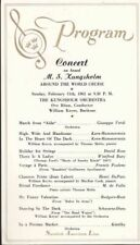 1962 Souvenir Program from a Concert on Board the Crusie Ship M.S. Kungsholm