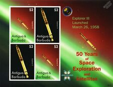 EXPLORER 3 Satellite / 50 Years of Space Exploration Stamp Sheet (2008 Antigua)